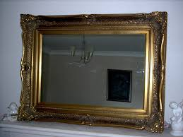 mirror 36 x 48. *half price* large fabulous gold overmantle or wall mirror - overall size: 36 x 48 inches (92 122cm) antique vintage style with deep ornate frame and mirror