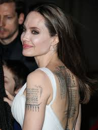 Angelina Jolie Reveals Her Huge Tattoo Collection As She Wears