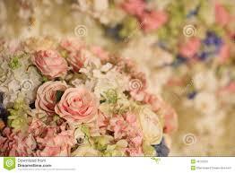 Wedding Flowers Decoration Beautiful Flower Decoration For Wedding Reception Stock Photo
