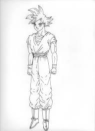 Coloriage Goku Ultra Instinct Top Coloriage Dragon Ball Z Sangoku