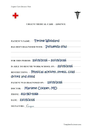 Fake Urgent Care Doctors Note Fake Sick Note Template Fake Doctors Note Templates For School Work