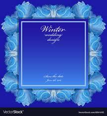 Wedding Photo Background Winter Frozen Glass Background Blue Wedding Frame