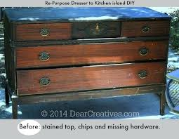 Kitchen Island Made Out Of Dresser Diy Kitchen Island Made From