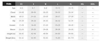 Uk Size Chart Marmot Size Guide