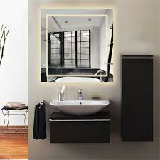 Hotel Bathroom Lighted Mirror Details About Square Wall Mount Bathroom Led Lighted Mirror Defogging For Makeup Shaving Home