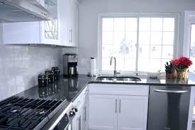 grey granite countertops. White Kitchen Cabinets Grey Granite Countertops And Gray With Steel