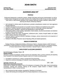 sample resume for business analyst sample resume template collection complete collection of sample