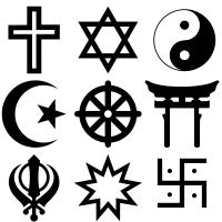 Симметрия Википедия Симметрия в религиозных символах ряд 1 христианском иудейском даосийском ряд 2 исламском буддийском синтоистском ряд 3 сикхском в вере Бахаи