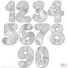 Small Picture Zentangle Numbers Set 0 9 coloring page Free Printable Coloring