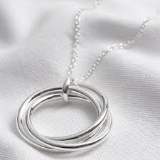 large triple linked ring pendant