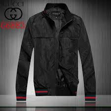 new gucci fashion zipper jacket for men 38 replica clothing