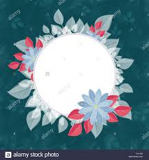 Flower Edge Design Round Flower Frame For The Text Turquoise A Form Against