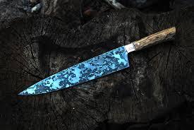 Regular Damascus Kitchen Knife Custom Handmade Damascus Steel4Custom Kitchen Knives