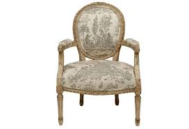 N Louis XVI Style Painted Fauteuil Chair