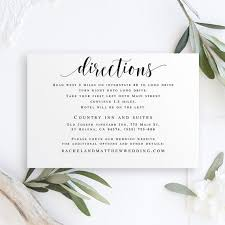 Directions Template Directions Template Editable Pdf Directions Insert Directions Cards For Wedding Invitation Enclosure Cards Wedding Template Printable Vm31