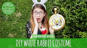 diy white rabbit costume from alice in wonderland handmade you