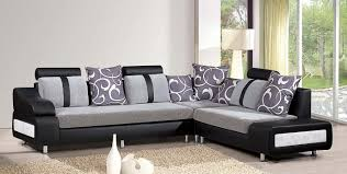 ... L Shape Sofa. Living Room Appealing Design Fl Pattern Cushions  Delightful