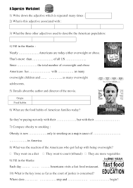 movie worksheet super size me health class movie worksheet super size me