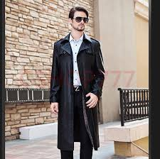 details about mens winter full length long trench windbreaker coats formal leather jackets new