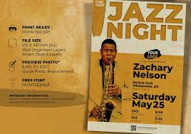 Template For Event Flyer Jazz Concert Music Event Flyer Template Free Photoshop Brushes At