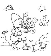 Kleurplaat Pompom Lente Pompom Dibujos Primavera En Gnomos