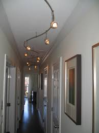 wall track lighting. Fantastic Interior Hallway Design With White Wall Decoration Also Curve Track Lighting Fixtures H