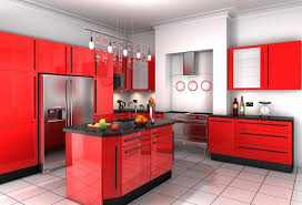 Small Picture Extremely Hot Red Kitchen Cabinets Home Design Lover Good Tip for