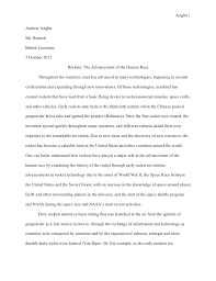 senior project research paper anglin 1andrew anglinms bennettbritish literature7 2011 rockets the
