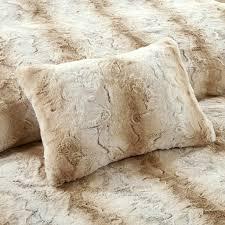 madison park zuri faux fur duvet cover set