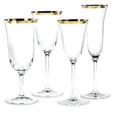 gold rimmed champagne flutes gold rimmed classic footed wine glasses set of 4 wine glasses gold gold rimmed