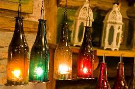 glass bottles hanging lighting lamps diwali decoration