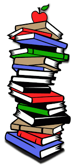 cartoon books stacked reviewwalls co vector library stock
