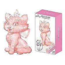 Hanayama Crystal Gallery 3d Puzzle Disney Marie Pink <b>45 Pcs</b> for ...