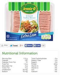 turkey t nutrition information