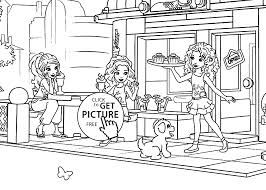 Small Picture for girls coloring page printable free Lego Friends