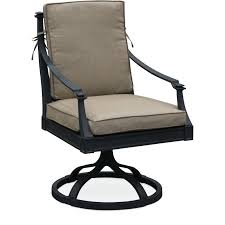 black and tan outdoor patio swivel chair antioch