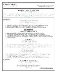 Project Finance Analyst Resume Templates – Betogether