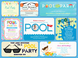 charming pool party invitations for kids features party dress swim spectacular pool party invitations printable