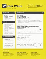 Walter White's Resume