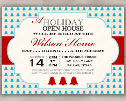 Invitation To Open House Holiday Open House Party Invitation Christmas New Years Or