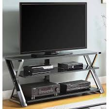 Basketball Display Stand Walmart Enchanting Whalen Black TV Stand For 32 Flat Panel TVs With Tempered Glass