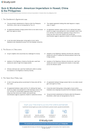 open door policy document. Print American Imperialism In Hawaii, China \u0026 The Philippines Worksheet Open Door Policy Document