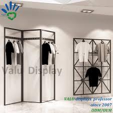 china metal hanging clothes display racks wall display stand for fashion garment china fashion clothing display racks wall hanging display rack