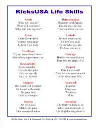 List Of Skills Life Skills And Martial Arts 10