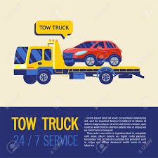 Tow Truck For Transportation Faulty Cars. Towing Services 24 ...