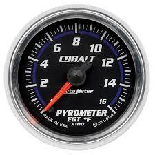 autometer cobalt 52mm 1600 deg f electronic pyrometer gauge
