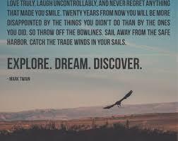 Explore Dream Discover Quote Best of Mark Twain Explore Dream Discover Quote Quotes
