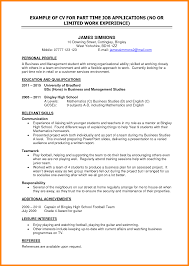 11 Part Time Jobs Resume Emails Sample