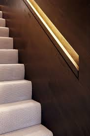 lighting stairs. The Lighting In Built-in Handrails Is Concealed By Top Part Of Railings And Continues From Bottom Staircase All Way Up To Stairs D