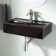 wall mounted sinks for small bathrooms. Modern Wall Mount Sink With Small Sinks For Bathrooms Likewise Black Bathroom Faucets Plus Mounted